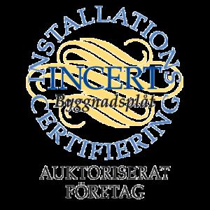 incert byggnadsplåt auktoriserat företag logo